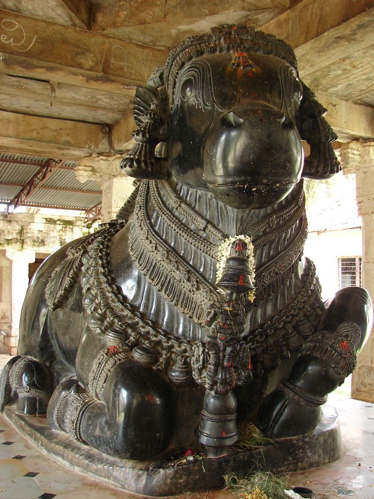 File:Nandi (bull) in Gangadeshvara Temple at Turvekere.JPG