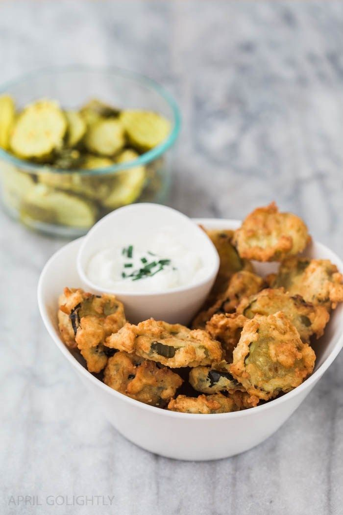 Easy Deep Fried Pickles Recipe - perfect for an appetizer using bread and butter pickles like Bubbies - made with Cucumbers, Mustard Seeds, Celery Seeds
