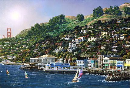 Sausalito, California -USA  I love the view from Sausalito to see the Golden Gate Bridge, priceless!