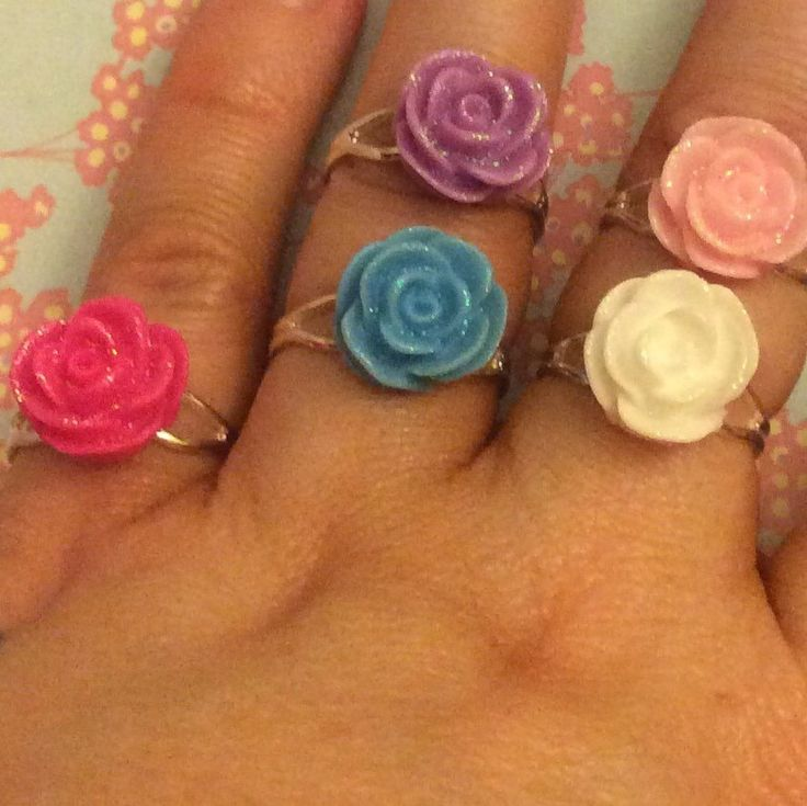New colours of my beautiful flower rings