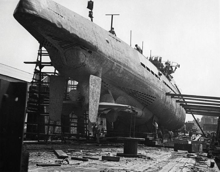 U-505 Submarine in Dry Dock