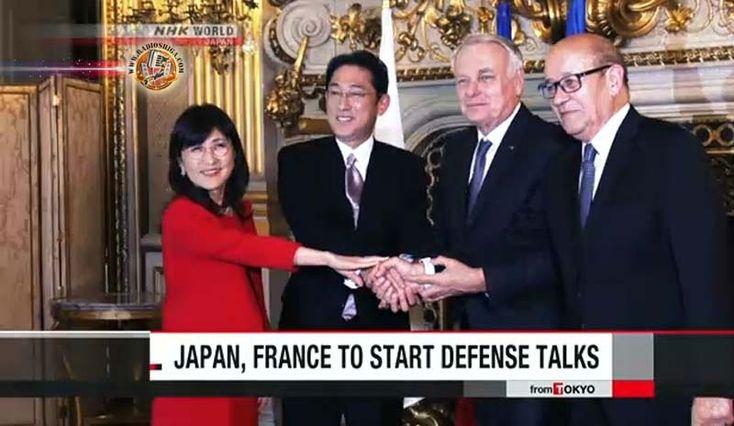 Japão e França concordam em iniciar negociações da ACSA. Os Ministros da Relações Exteriores e da Defesa do Japão e da França concordaram em iniciar...