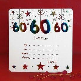 Si te interesa crear una buena fiesta de cumpleaños número 6 0 , pero todavía no tienen ideas acerca de las tarjetas de invitación,  usted p...