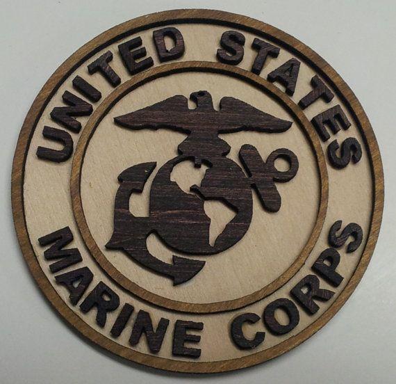 U.S. Marine Corps Emblem by LCMLaserEngraved on Etsy, $10.00