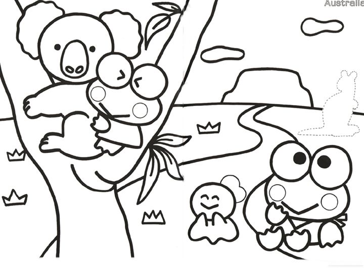 Keroppi colouring pages 188521 jpg 720x531