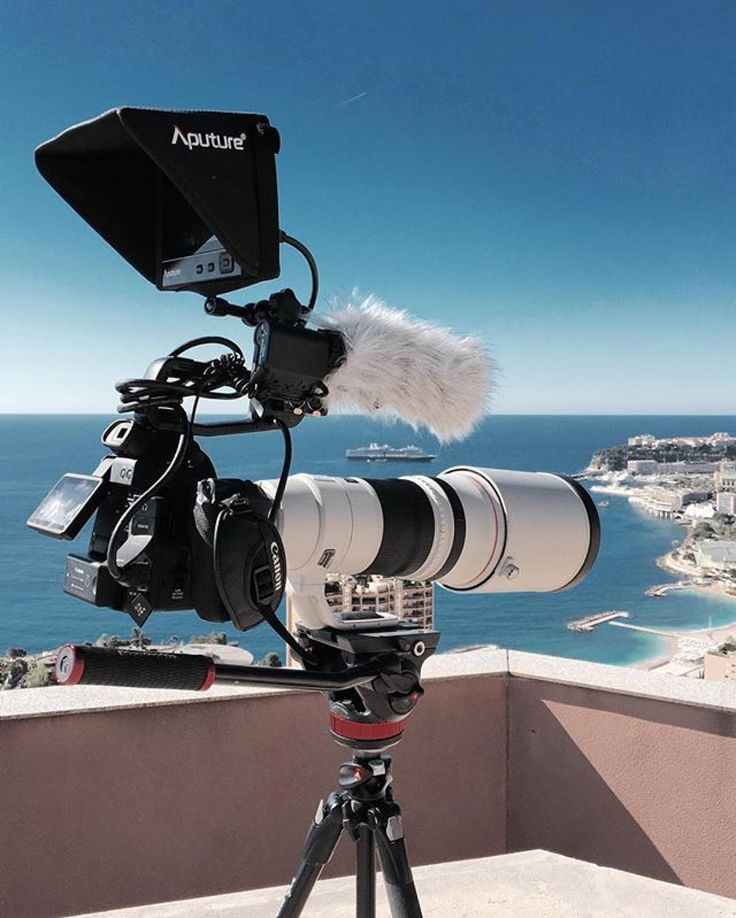 Canon C100 setup enjoying the view in Monaco Photo by @arnaudmoro  Tag someone going places with their gear  #camera #gear #c100 #canoneos #canonusa #videoshoot #rode #manfrotto #videography #cameras #lens #canon