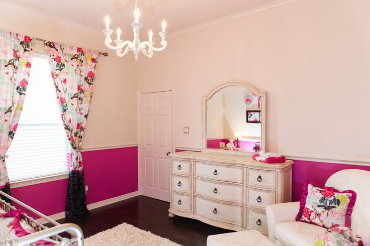 Vintage pink nursery for a baby girl! #nursery #vintagePink Wall
