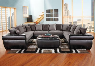 Black U Shaped Sectional Living Room Pinterest Gray