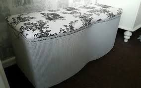 Image result for upcycled lloyd loom ottoman