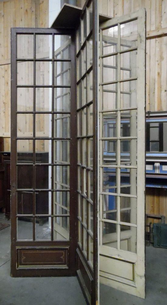 suite de cinq portes à petit carreaux,double faces,patine originale .XIX siècle.