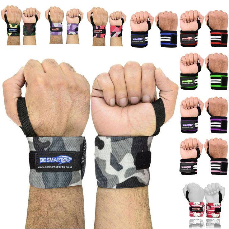 Weight Lifting Wrist Wraps Bandage Hand Support Brace Gym Straps Cotton | eBay