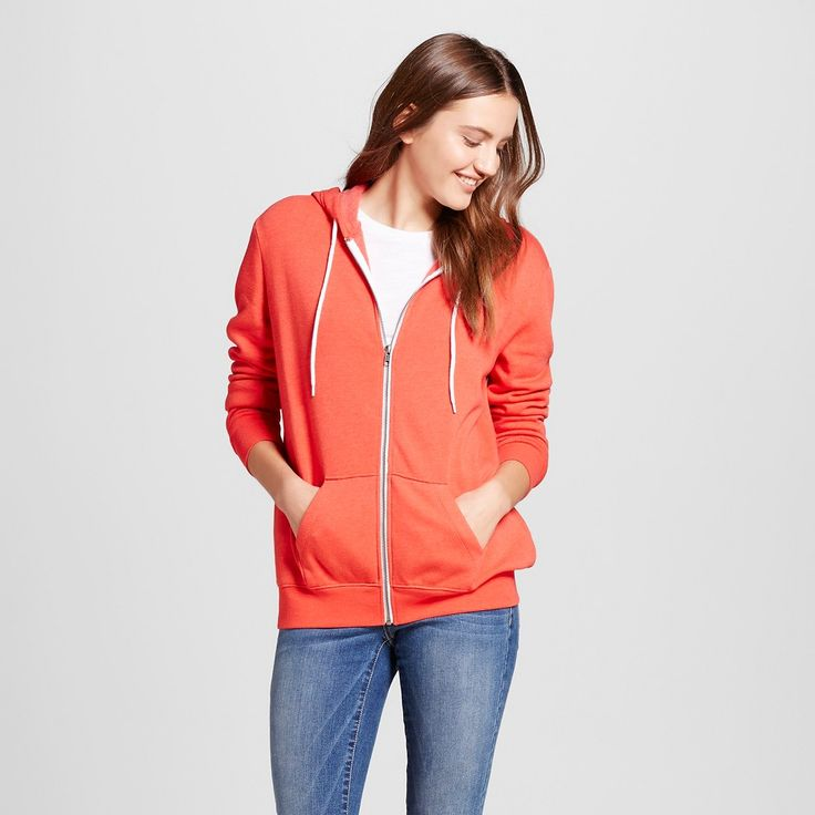 Women's Zip Up Sweatshirt Red Xxl - Mossimo Supply Co.