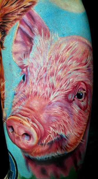 123 best goats sheep pig art images on pinterest for Vegan tattoo shops near me