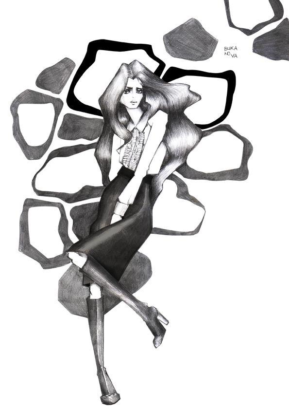 Gucci /Fall 2014  #fashionillustration
