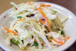 Making Coleslaw Lighter, Healthier