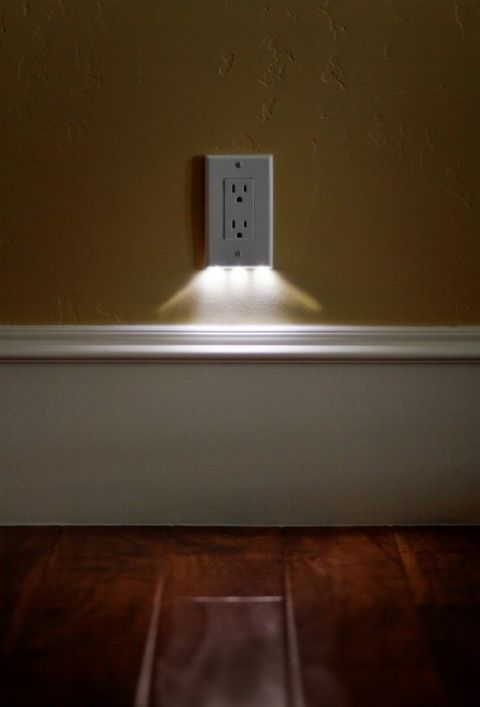SnapRays an LED nightlight built right into the outlet cover plate   doesn't take up any space, looks great, and easy to install I need some of these