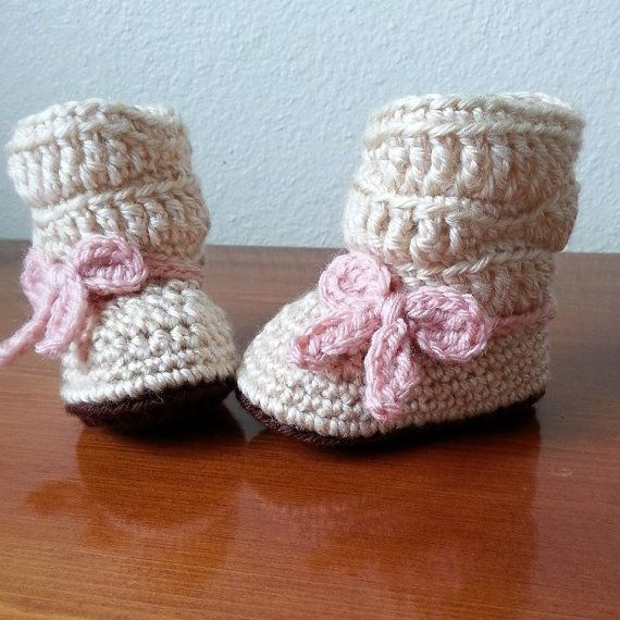 Crochet Mia Slouch Boot /  Crochet Boots /  Baby by MadebyMTL, $20.00
