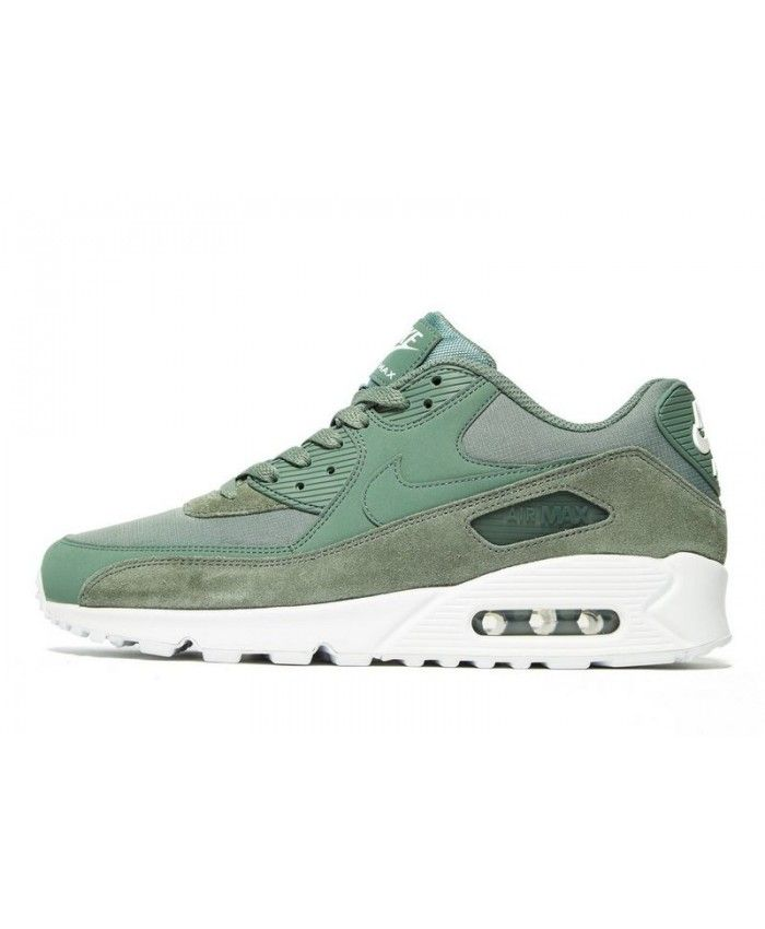 Men's Nike Air Max 90 Essential Clay GreenWhite Sneakers