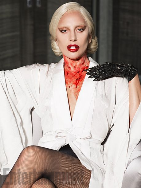 Lady Gaga, Ryan Murphy, and #AHS costume designer Lou Eyrich (who nabbed an Emmy for her work on #Coven) collaborated on the aesthetic of the Countess. #AHSHotel   Image Credit: Michael Avedon for EW.