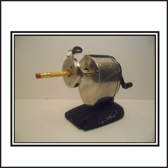 Boston Champion Self Feeding Pencil Sharpener. by stillthemind, $20.00   vintage desk accessories, metal mid century, midcentury