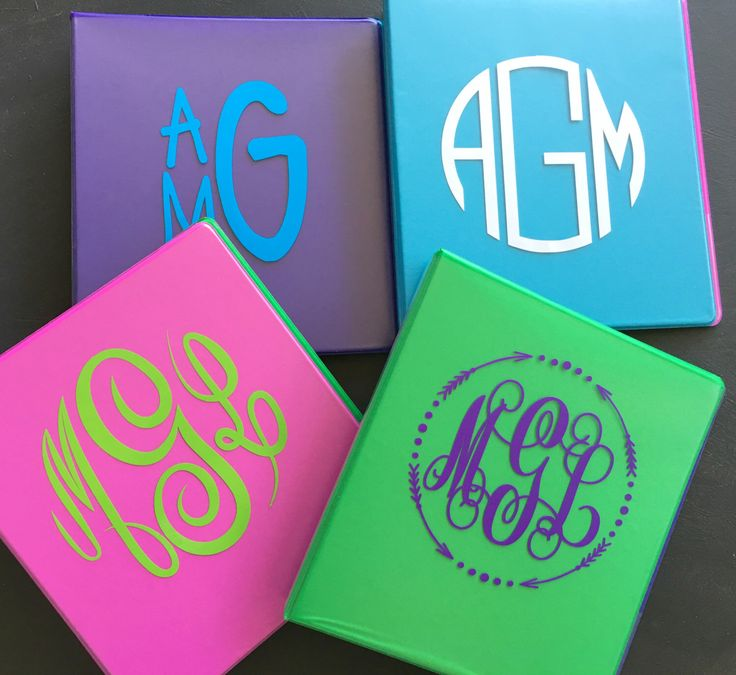 A personal favorite from my Etsy shop https://www.etsy.com/listing/463356619/monogram-binders-cute-back-to-school