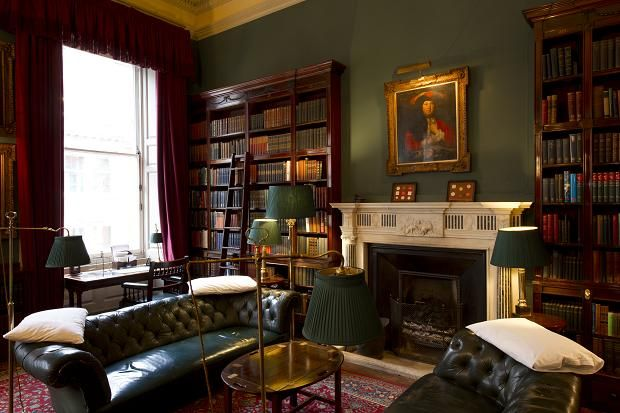 An interior at Brooks's in St James's Street. The club was founded in 1764 via thetimes.co.uk