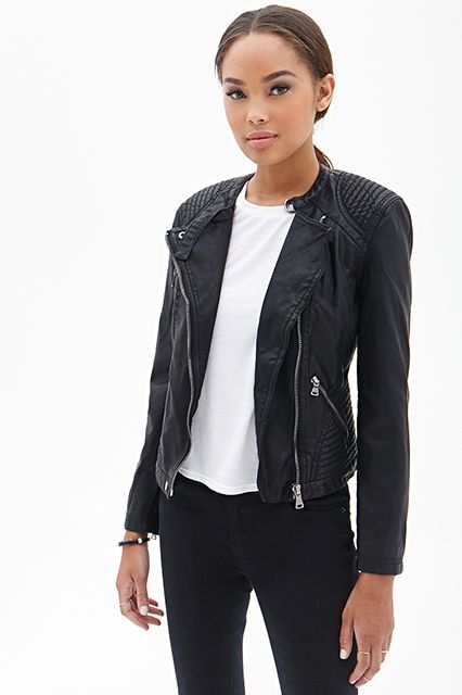 Forever 21 Textured Faux Leather Jacket, $27.50 with code SPRING21 (originally $34.80), available at Forever 21.