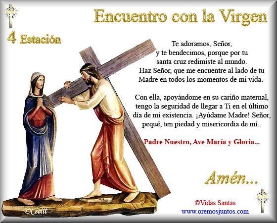Imágenes de Cecill: Estaciones del Via Crucis † 4- Encuentro con la Virgen