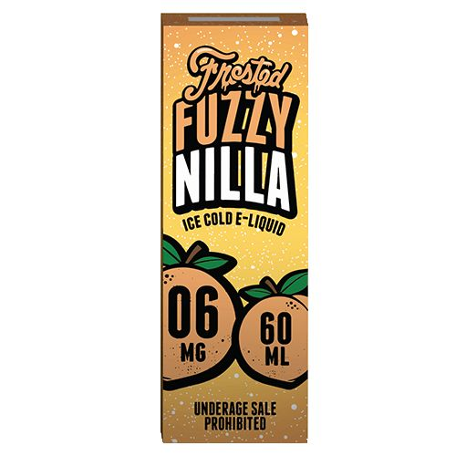 Frosted Vape Company Frosted Fuzzy Nilla 60ml - Ever tried a peach milkshake? This well-balanced blend of vanilla ice cream, fresh peaches and a glass of cold milk is as close as it gets.Ships from eCig Distributors Inc - California