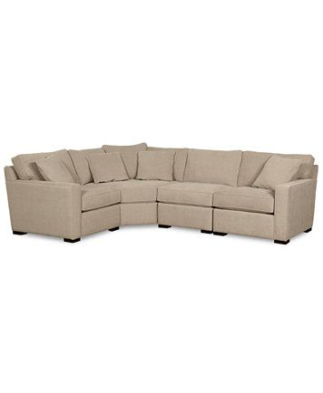 $1700 Radley Fabric 4-Piece Sectional Sofa | macys.com