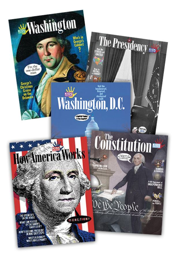Election season is the perfect time to introduce kids to the way our government works, and how it got that way! This themed set includes our popular titles Washington, D.C., George Washington, Presidency, How America Works, and Constitution… at a 20% discount!