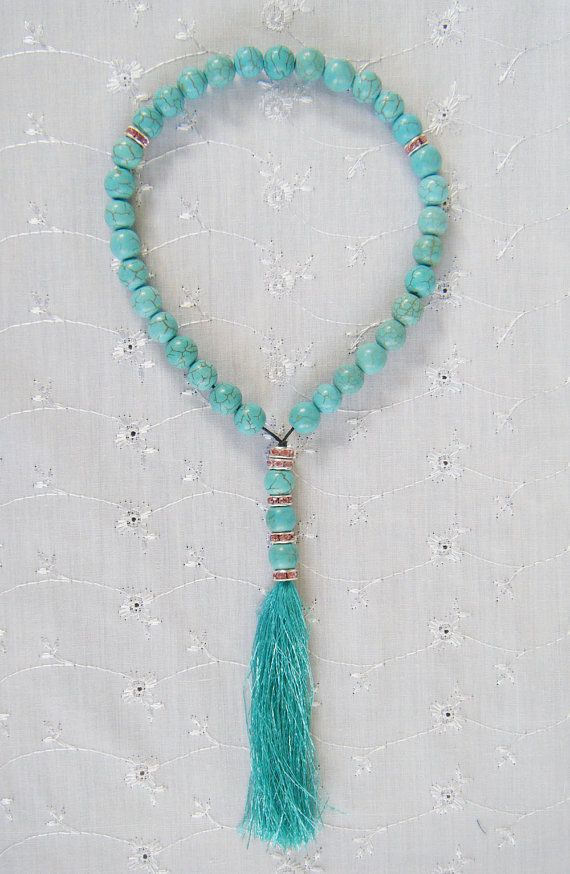 Muslim Prayer Beads  33 Turquoise  with by Sissacollections, $20.00