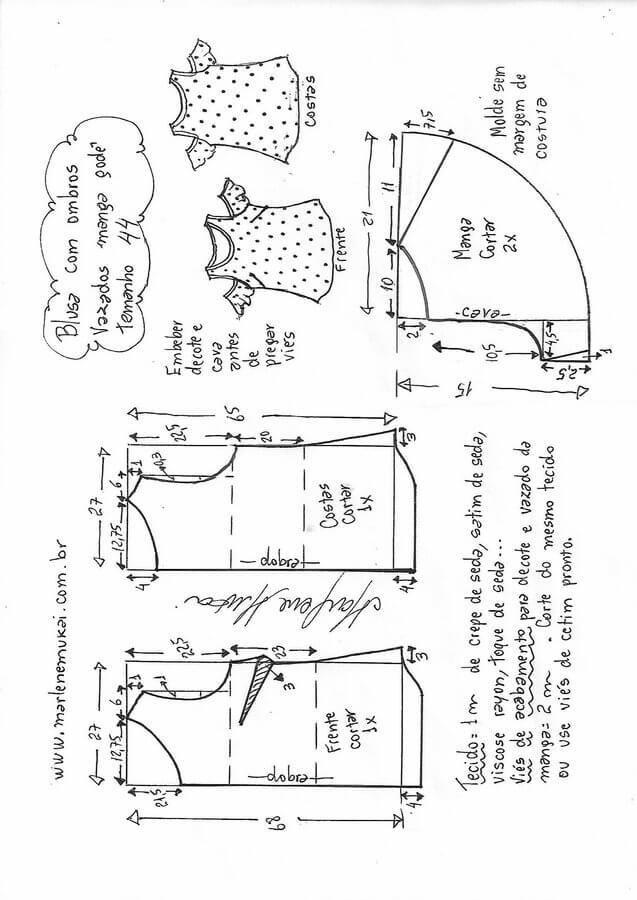 Pin de Nileve de Paez en Ropa | Costura, Patrones de costura y Coser ...