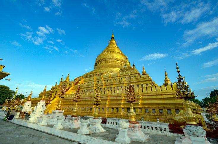 黄金まばゆい、シュエズィーゴン・パゴダ 東南アジアの熱気感じるミャンマー「バガン」で見るべき観光スポット10選