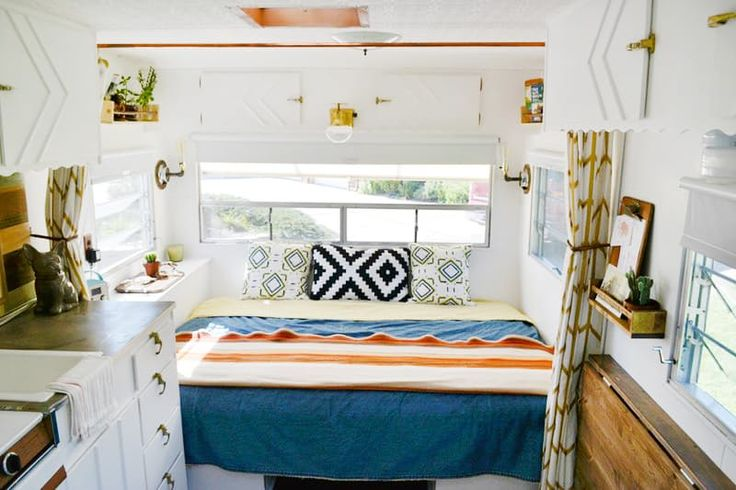 """Melissa's Tiny Mobile Home on the GoMelissa lives in an adorable 120 square foot mobile home that literally follows her every place she goes. """"We are currently traveling the lower 48 states, so first and foremost we love that our tiny home is mobile -- we can take it anywhere! It's also incredibly practical. """""""