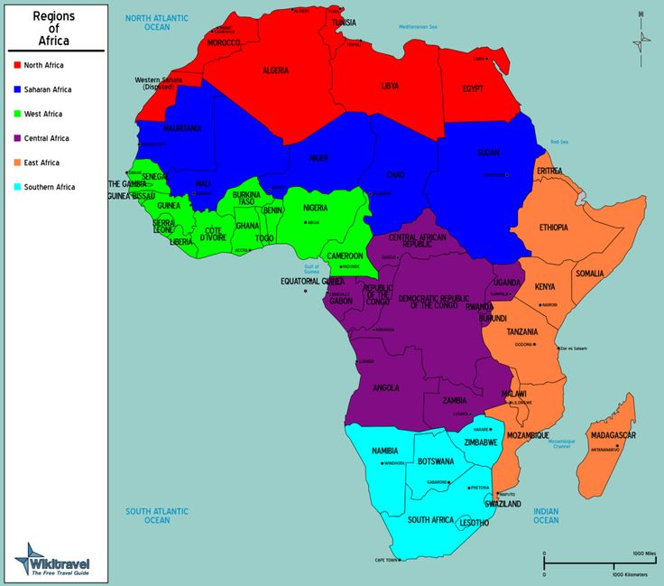 Southern Africa Regions Map Africa Regions VacationTravel