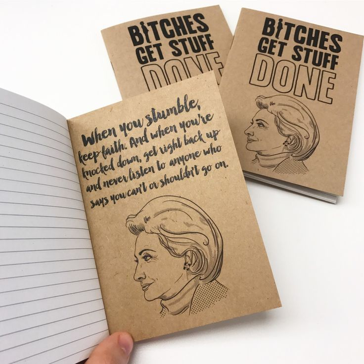 Ready for another week of standing up against the never ending bullshit?  #mondaymotivation  . . . #resist #hillaryclinton #bebrave #inspirationalquotes #persist #bitchesgetstuffdone #standup #imadethis #etsy #theresistance #etsysellersofinstagram #feminism #motivationalquotes #quotes #hillary #illustration #politicalart #keepfighting #notebook #inspiration #stillwithher