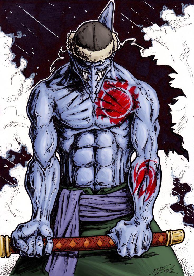 -Arlong- Captain of Fish-men pirates -One Piece fan art by 3Zeta