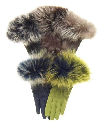 Stunning, fabulous, dramatic....it's hard to overemphasize the wow factor of these genuine fox fur cuff gloves made for us by Fratelli Orsini. The regal looking silver and black fox fur cuff encases your arm in elegant warmth, while the fine Italian lambskin leather, quality workmanship from Fratelli Orsini, and divine cashmere lining will look great and keep you warm when the cold weather arrives.