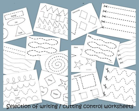 Pencil / Cutting control work sheets  childcare by BlessItForward