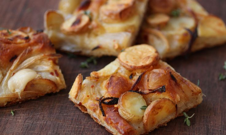 Pizza With Fontina, Potatoes, And Tapenade Recipes — Dishmaps