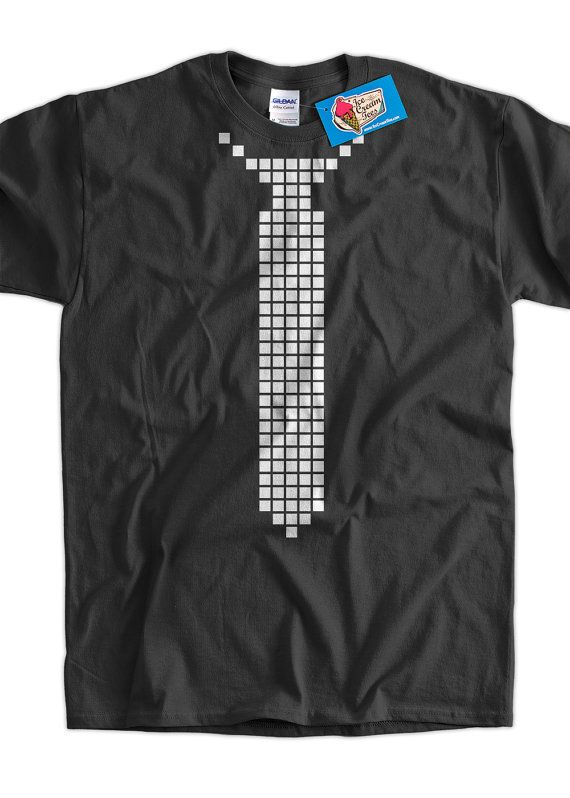 Pixel Tie Screen Printed TShirt Tee Shirt T Shirt by IceCreamTees, $14.99