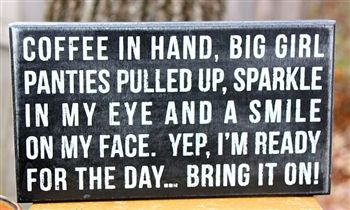 'Coffee in Hand' Box Sign.