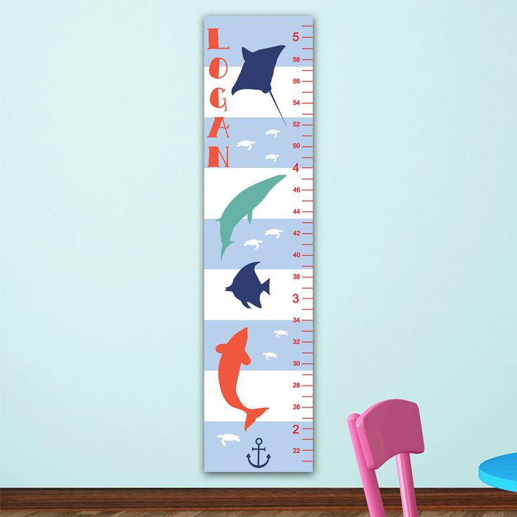 Best Nautical Nursery Decor Images On   Growth Charts
