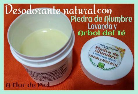 """JABONES Y COSMETICA NATURAL """"A FLOR DE PIEL"""": Desodorante natural con Alumbre y aceites esencial..."""