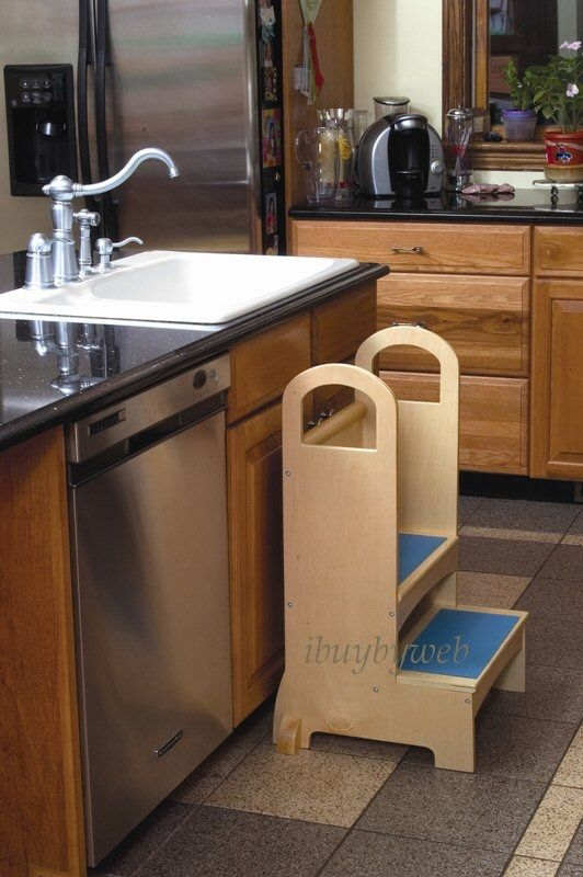 A Kitchen Step Stool For Your Kids:Chic Kitchen Step Stool For Sink Faucets  Amazing