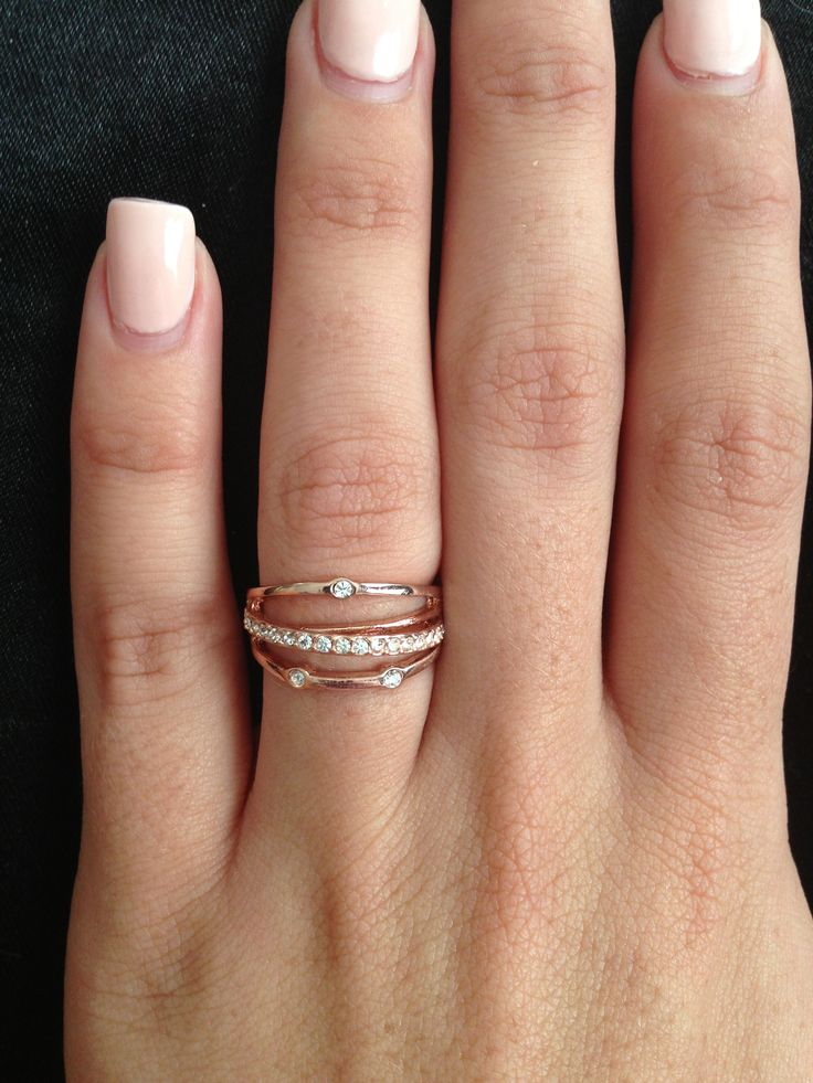 Rose gold ring #love