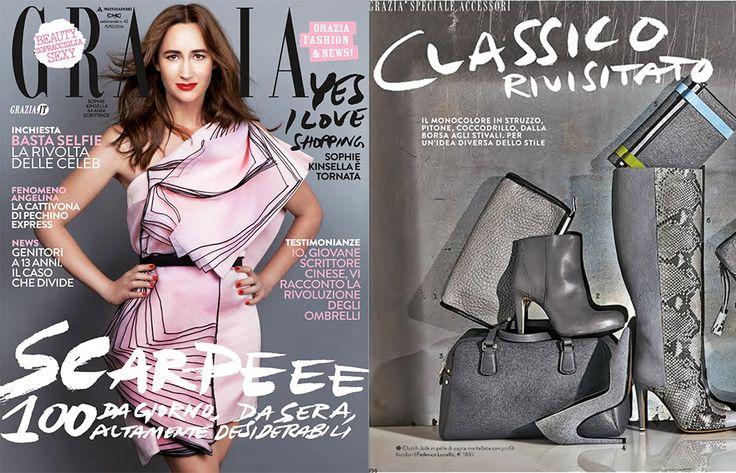 October 2014 - Editorial in Elle www.federicalunello.com #federicalunello #bags #accessories #madeinitaly #handmade