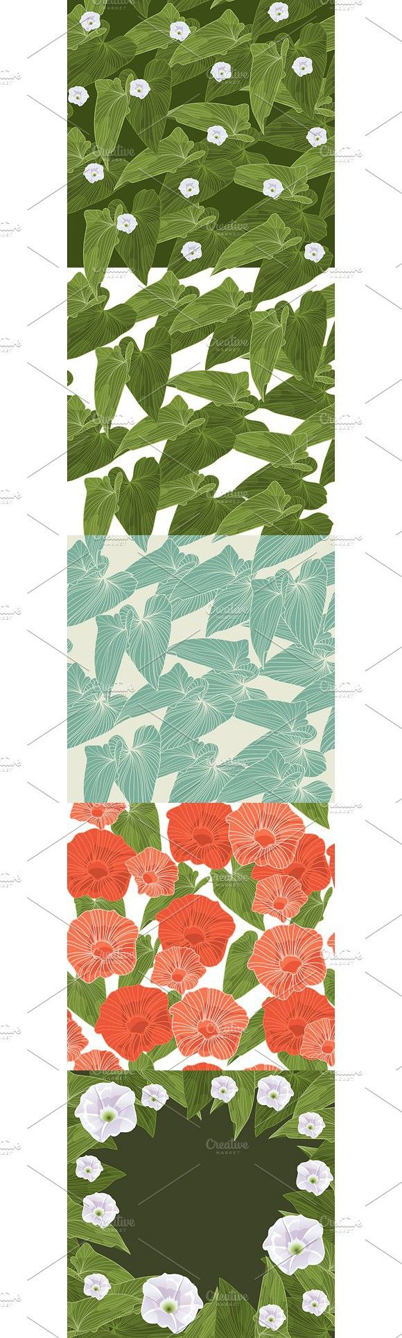 Seamless background with leaves. Patterns