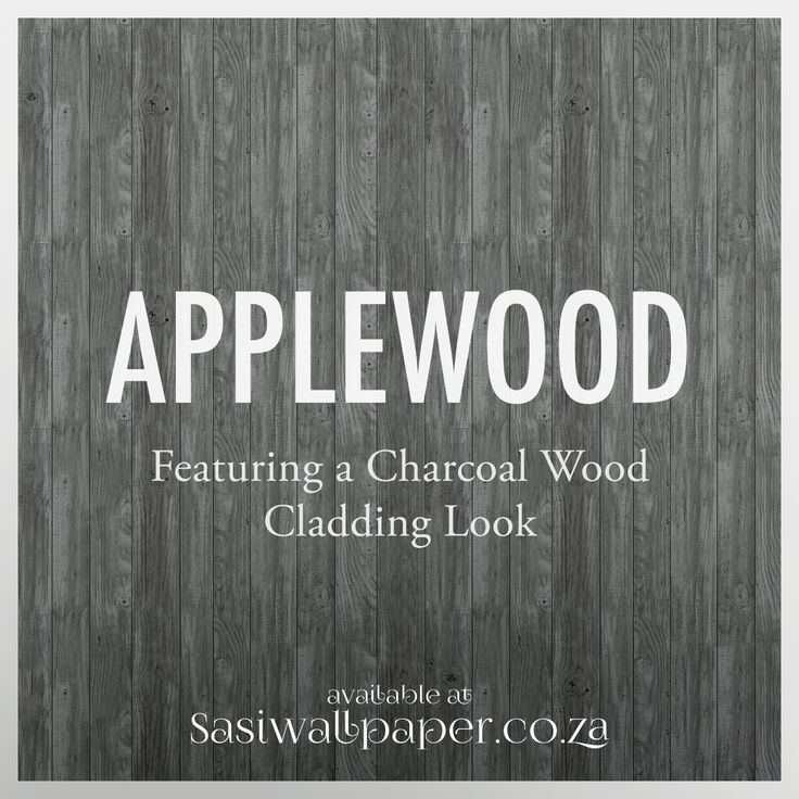 #Applewood wallpaper with a charcoal wood cladding look.